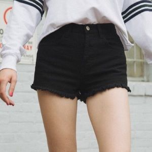 Brandy Melville Black High Waisted Shorts